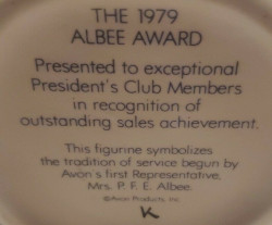 Avon Albee Award Mark