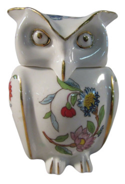 Aynsley China Pembroke Owl Trinket Box