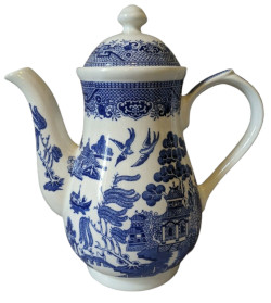 Churchill Blue Willow Coffee Pot