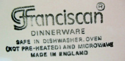 Franciscan Made in England Mark