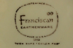 Franciscan Made in USA TV Screen Mark 1964