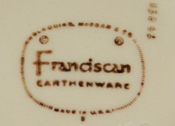Franciscan Made in USA TV Screen Mark 1961-1962